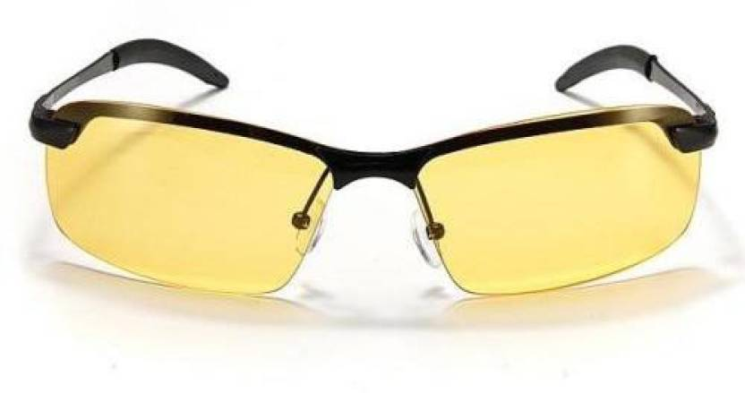 ff6b74fc39 Swadha Cycling Driving Polarized Night Vision Glasses Cycling Goggles  (Yellow)