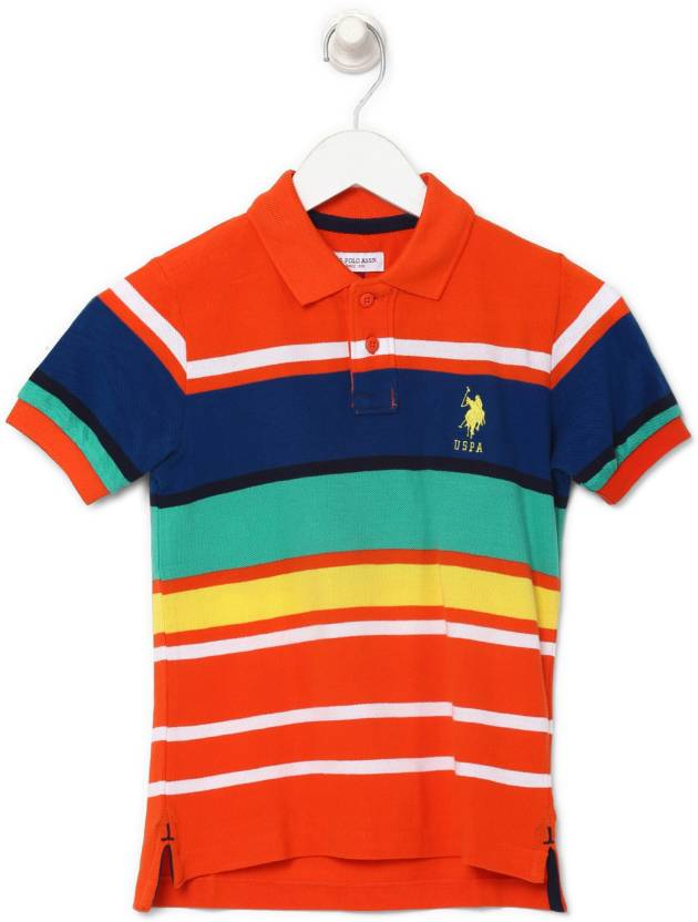 59e44b8e24 US Polo Kids Boys Striped Cotton T Shirt Price in India - Buy US ...
