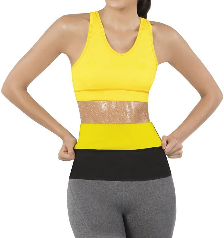 bd6fa66042 Svello Sweat Waist Trimmer Fat Burner Belly Tummy Waist Slim  Belt adjustable Sweat Slim Belt hot Shaper Slim Belt super Stretch premium  Waist Trimmer For ...
