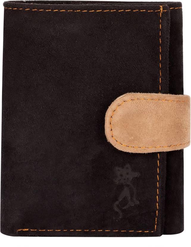9cdbd6e9d de meow Men Black Genuine Leather Wallet BLACK - Price in India ...