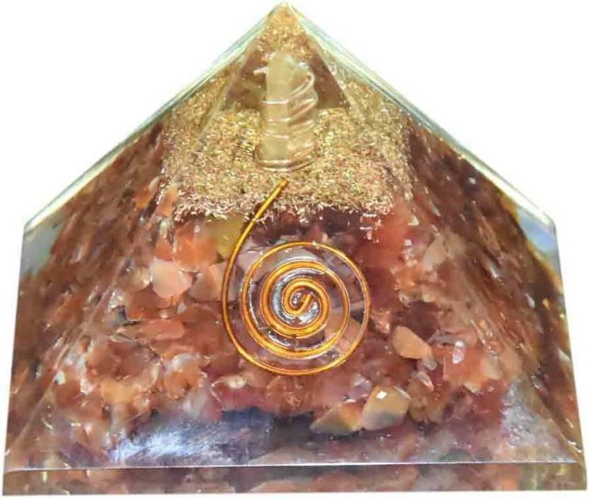 Five Elements Energy Generator Orange Clear Crystal Orgone
