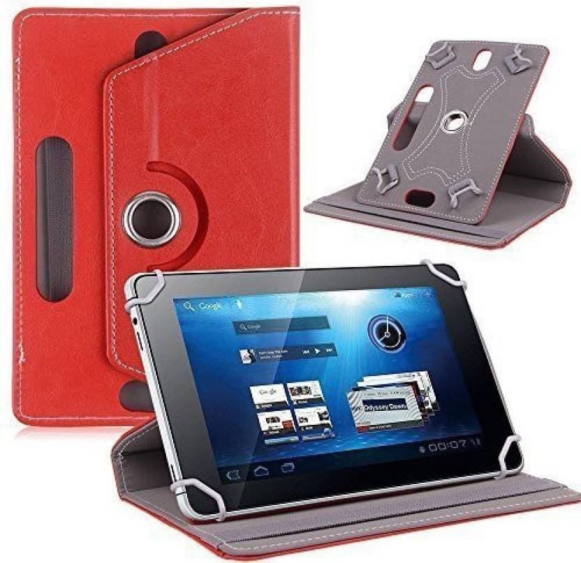 Cutesy Flip Cover for iBall Slide 3G 7803 Q900 Tablet Red, Cases with Holder