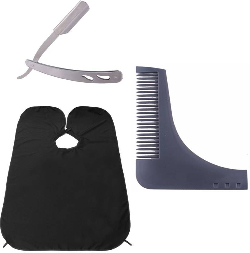 KYT Beard Comb Grooming & Stainless steel razor with steel