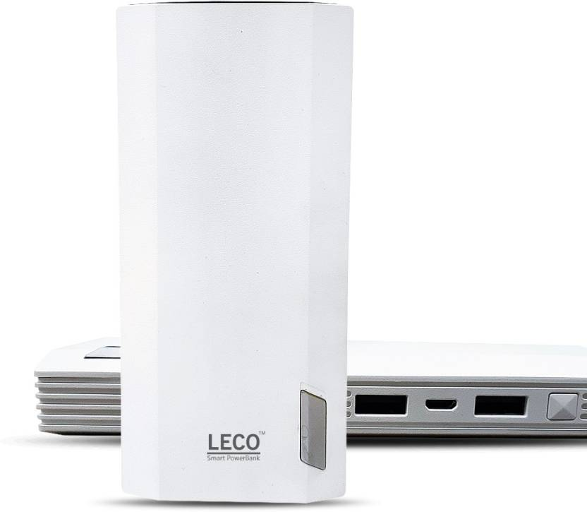 Leco 20000 Power Bank (Le20000W, Mah )  (White, Lithium-ion)