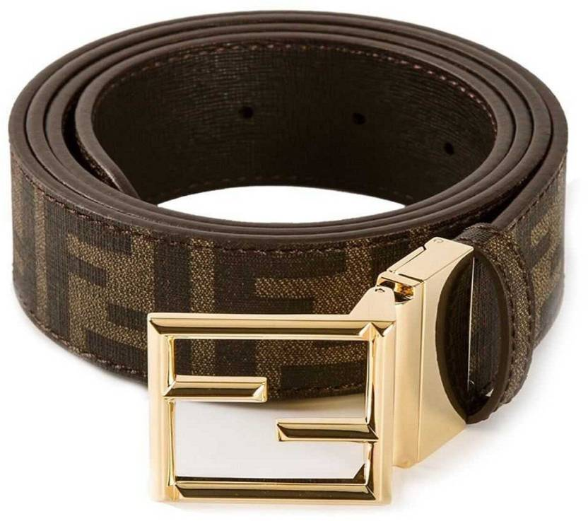 aa9b1c50e3 Niryat international Men & Women Brown Genuine Leather Belt FENDI ...