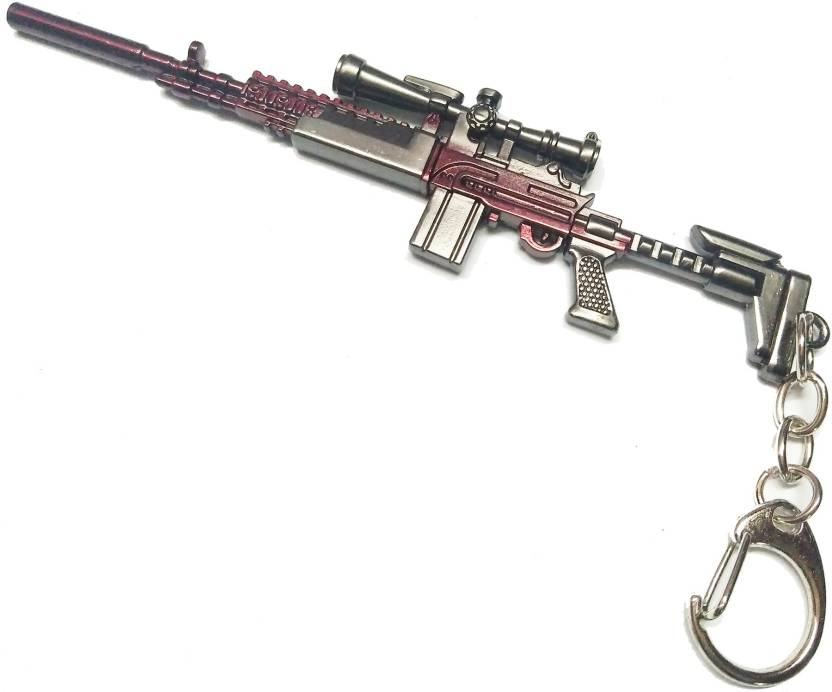 Prime Keychain PUBG Gun with Hook Key Chain SS Key Chain