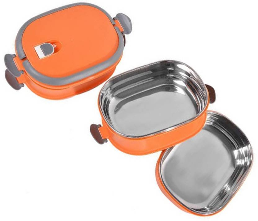 b1c2ebf42 MS MEGASLIM GOOD quality 3 Layer SQUARE Stainless Steel Lunch Box for Office  School Picnic Tiffin