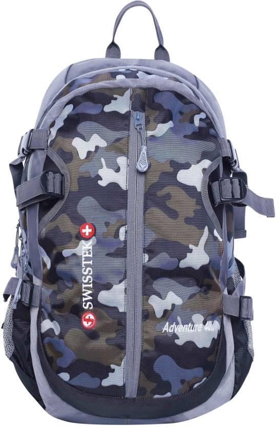 283896b18adee Swisstek Adventure Camouflage Rucksack backpack 40 L Laptop Backpack (Grey)