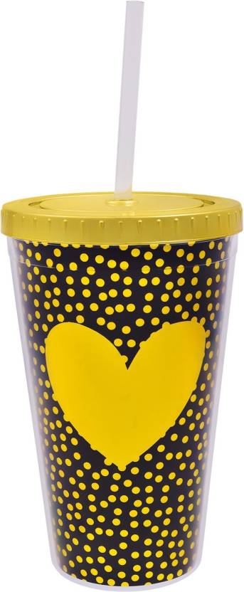 ac8c56767d98 Archies Double Walled Plastic Sipper with Golden Heart Design With ...