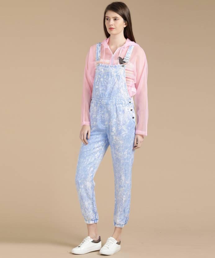 1b0ec45b1d Forever 21 Women Blue Dungaree - Buy SKY BLUE/PINK Forever 21 Women Blue  Dungaree Online at Best Prices in India | Flipkart.com