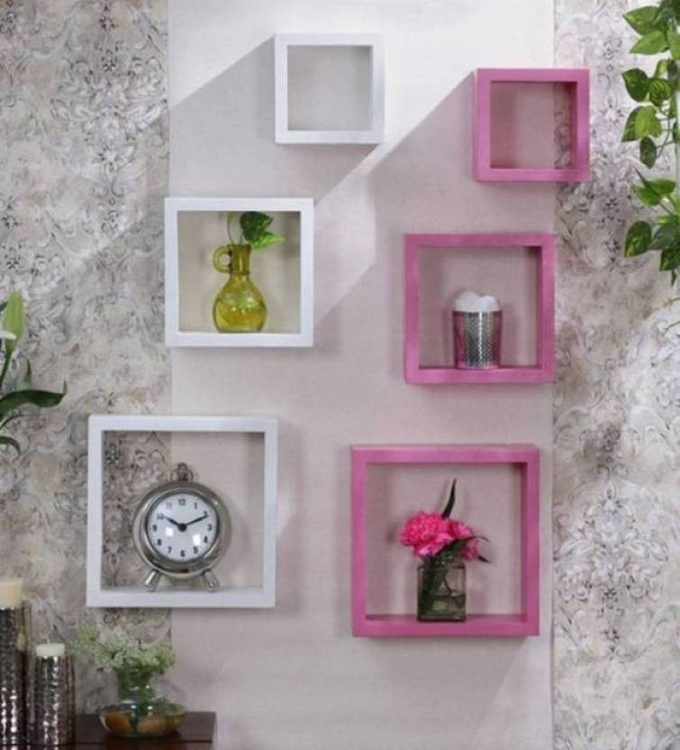 StoreOnline High Quality Wooden Home Decor Wall Shelf Number Of Shelves