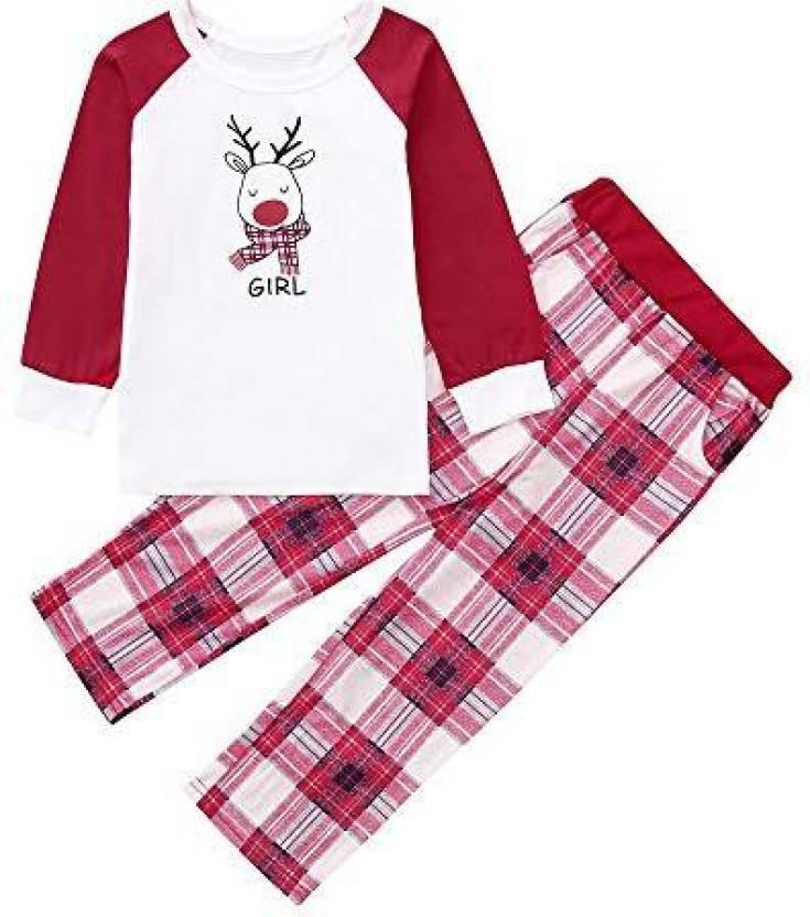 ad97d8aa8314 Franterd Christmas Family Matching Pajamas Set MommyDaddyMe Xmas Long  Sleeve Red Deer Tops Plaid Pajamas Pant Set - Christmas Family Matching  Pajamas Set ...