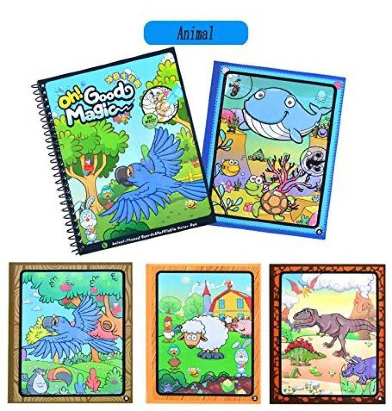 Tango Animal Paint with Water Books for Toddlers Kids Water Magic ...