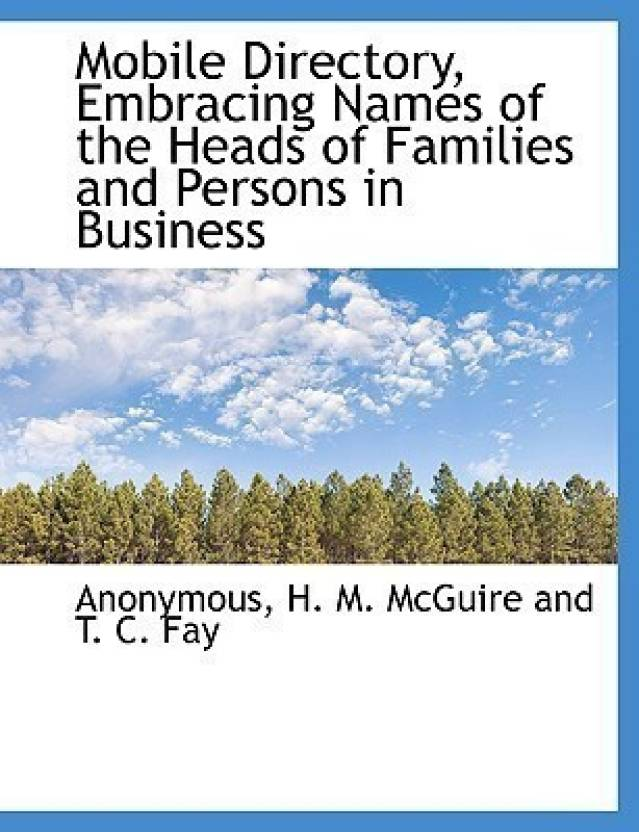 Mobile Directory, Embracing Names of the Heads of Families and