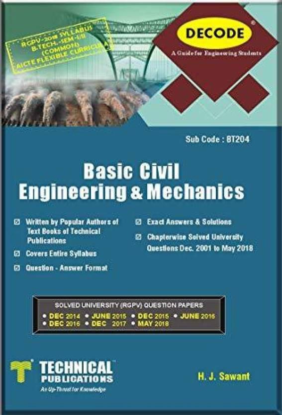 DECODE-Basic Civil Engineering and Mechanics for RGPV (B