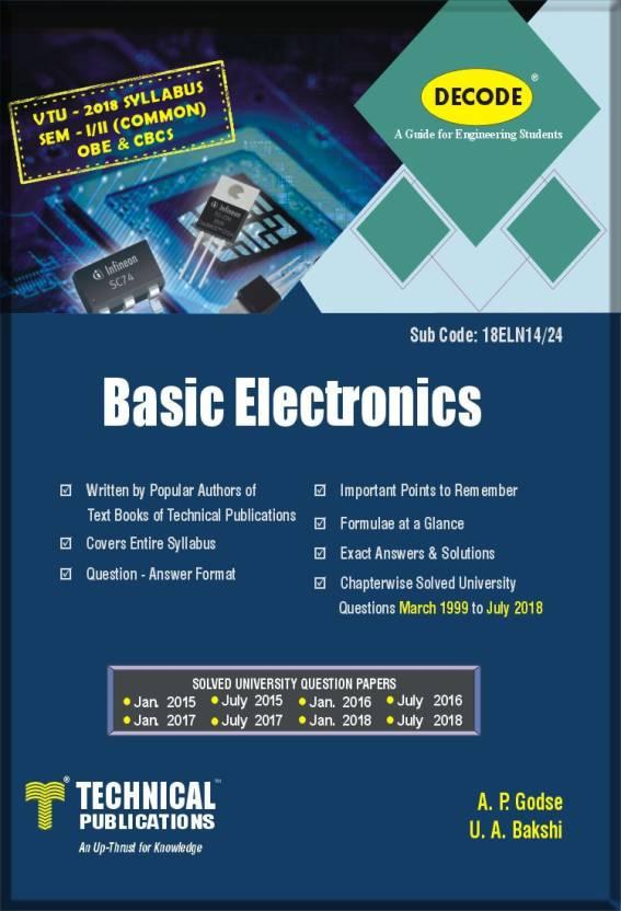 DECODE- Basic Electronics for VTU (SEM-I/II COMMON OBE&CBCS