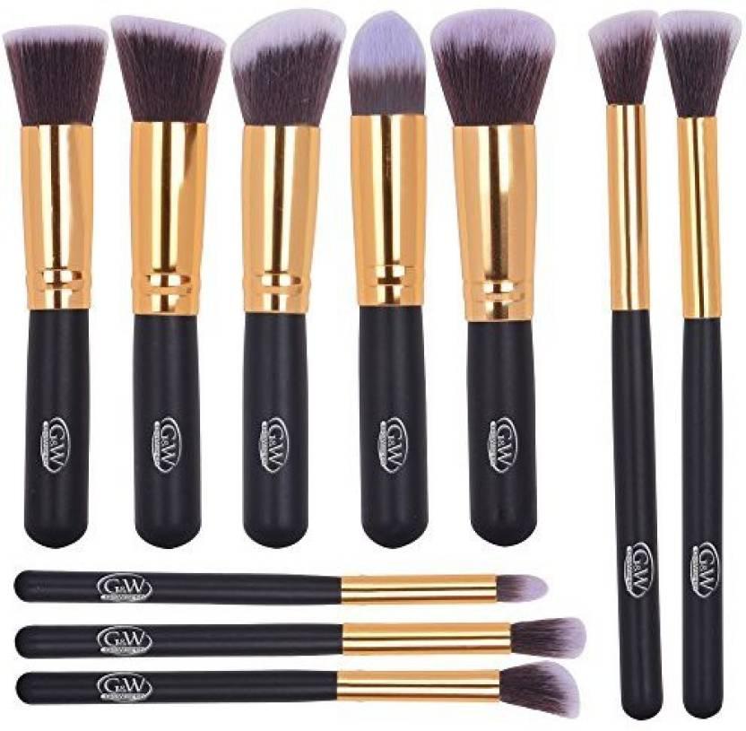 5a0e2811e7dc4 Goworth 10Pcs Premium Makeup Brush Set Synthetic Cosmetics ...