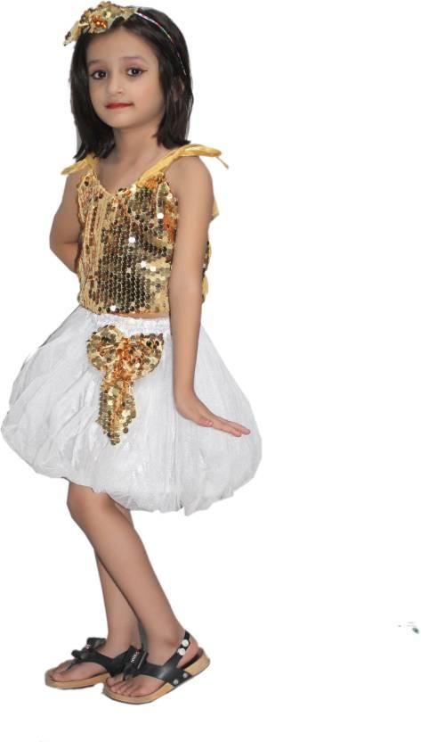 e1305fceab05d Kaku Fancy Dresses Golden Silver Skirt Top Costume, Western Costume ...