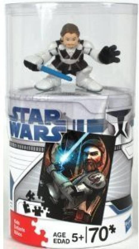 Hasbro Star Wars 70 Piece Clone Wars Galactic Heroes Puzzle Obi Wan