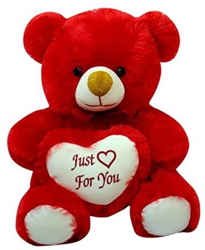 Skull-I Soft Toy Cute Teddy Bear -Red,40Cm,Pack of 1 - 40 cm