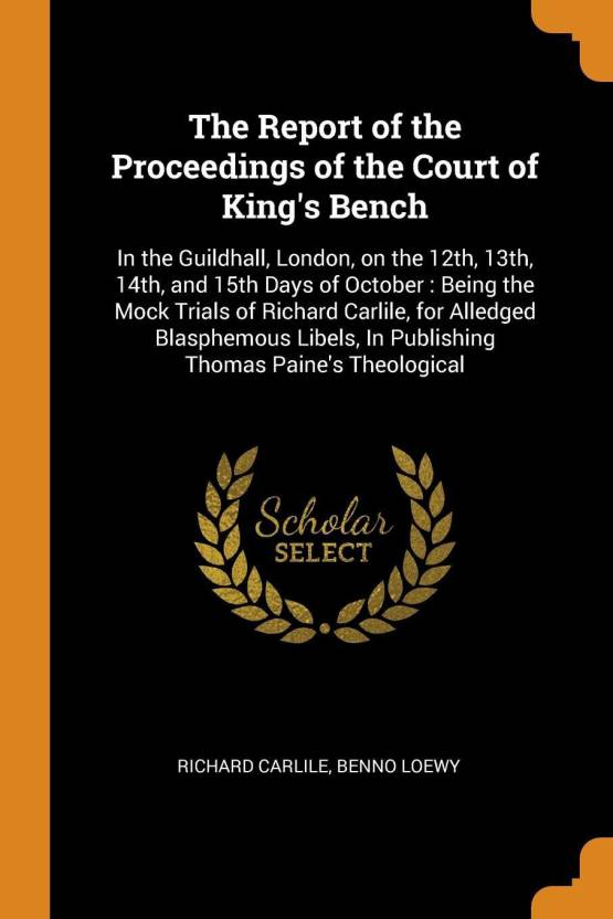 The Report Of The Proceedings Of The Court Of King Buy The Report  The Report Of The Proceedings Of The Court Of King