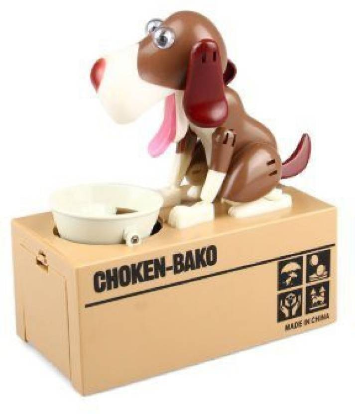 Fururu Fururu Money Box Dog Eats Coin Bank Cartoon Cute Birthday