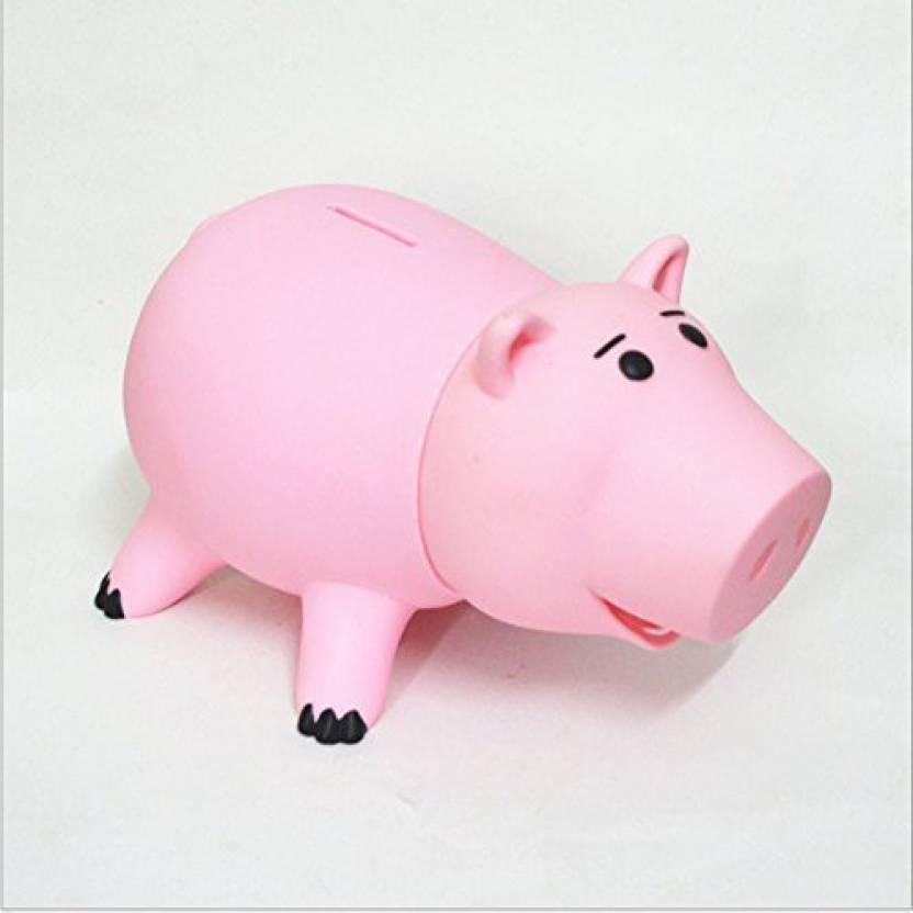ca8ea67af16 HairPhocas Cute Pink Pig Money Box Plastic Piggy Bank For KidS Birthday Gift  With No Box Coin Bank (Pink)