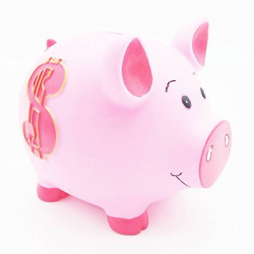 fcc9481b4d4 Funovelty Funovelty Piggy Bank Pvc Cute Pig Money Box Coin Bank For Kid`S Birthday  Gift (Dollarpink) Coin Bank (Pink)