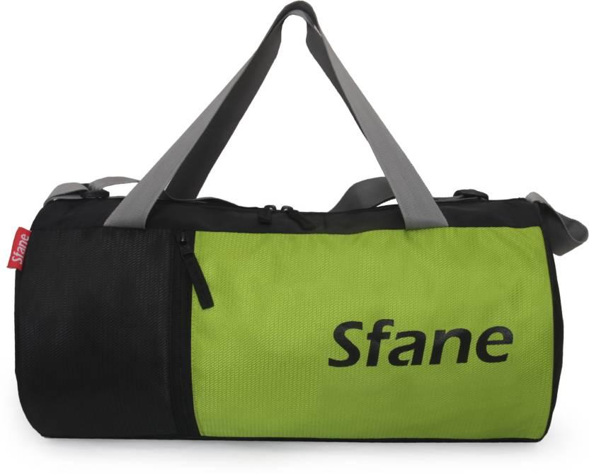 c7a6720226 sfane Trendy Men   Women Black Sports Duffel Gym Bag (Black