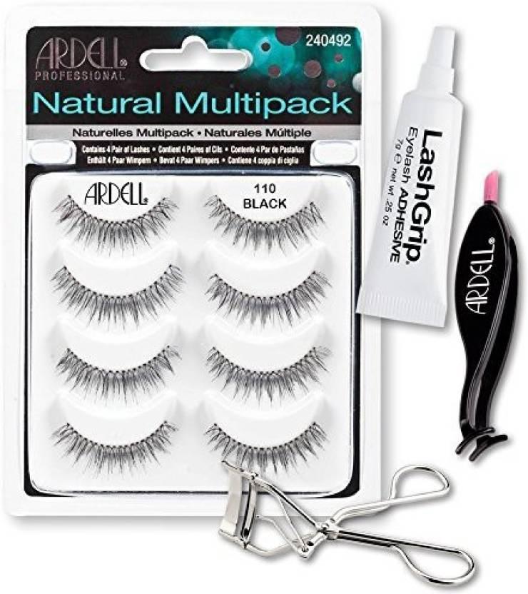 321a7eb3266 Ardell Fake Eyelashes 110 Value Pack Natural Multipack Lashgrip Strip  Adhesive Dual Lash Applicator Cameo Eyelash Curler (Pack of 4)