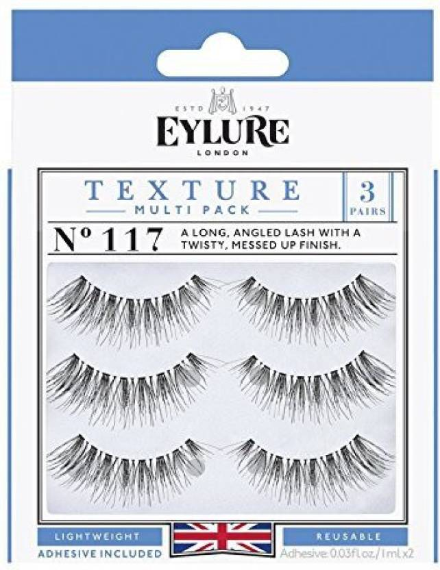 c42861b205a Eylure Texture 117 False Eyelashes Black Multipack - Price in India ...