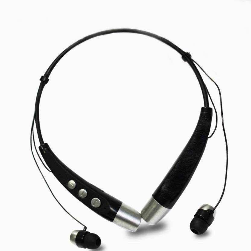 8e60921ec00 SHOP_2_HOME Neckband- Compitable with ANDROID & IOS Bluetooth Headset with  Mic (Black, In the Ear)