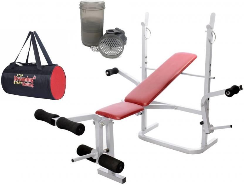 Lifeline Multi Gym Bench 308   Bundles With Gym Bag and Shaker Bottle Home  Gym Combo (100 - 120 kg) b79db42bb5