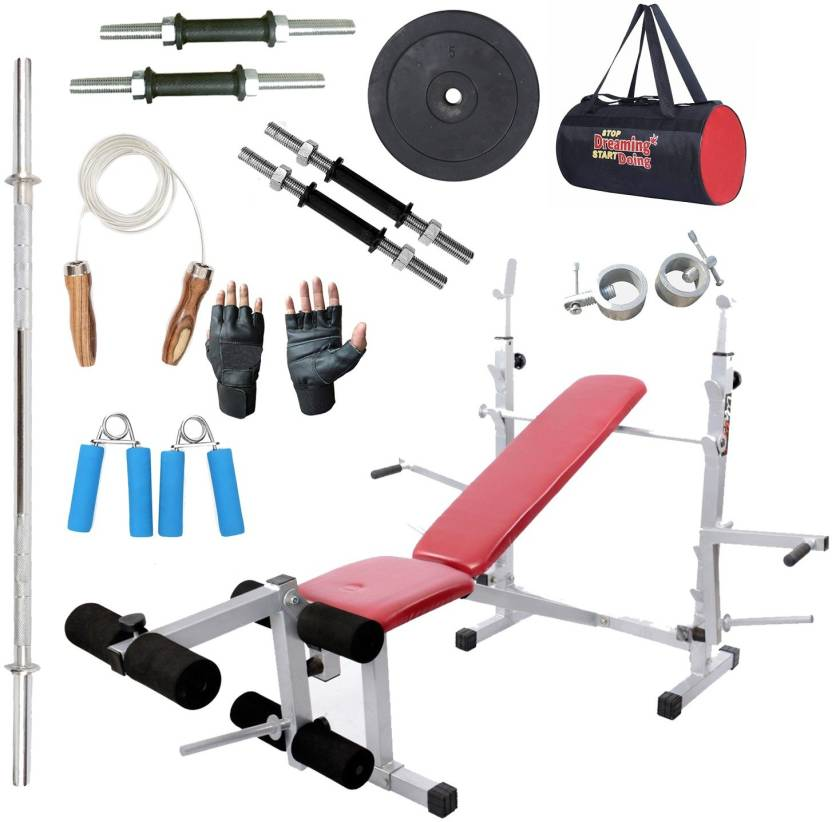 Lifeline Multi Gym Bench 308   Bundles With Gym Bag, Hand Grip And  Accessories ( 9 items ) Home Gym Combo (100 - 120 kg) 50a739ba93