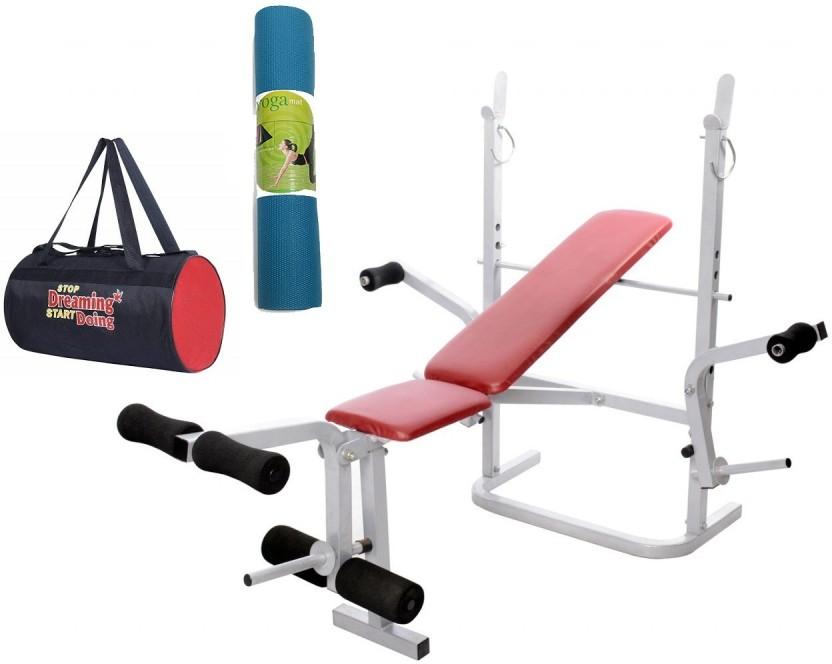 Lifeline multi gym bench bundles with gym bag and yoga mat