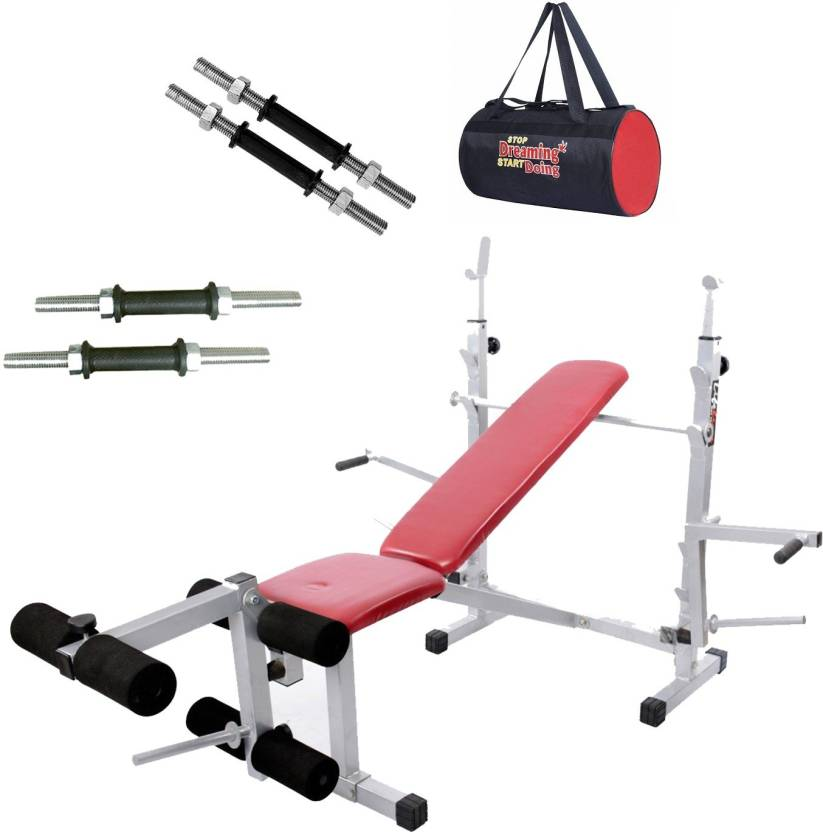 Lifeline Multi Gym Bench 308   Bundles With Gym Bag and Dumbbell Rod 14