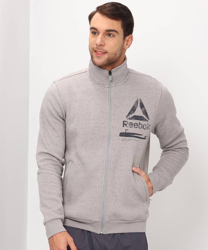 369134795f6 REEBOK Full Sleeve Self Design Men Jacket - Buy REEBOK Full Sleeve Self  Design Men Jacket Online at Best Prices in India
