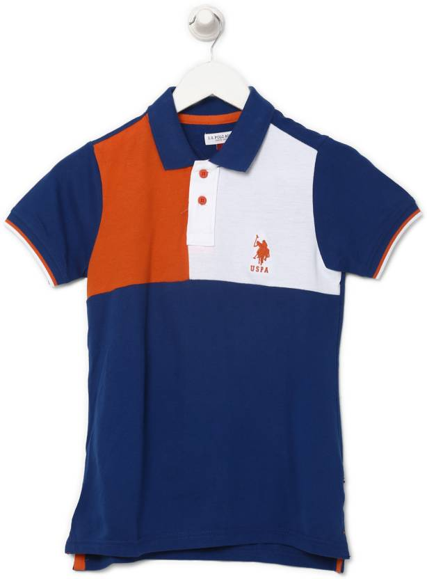 91a4653e US Polo Kids Boys Solid Cotton T Shirt Price in India - Buy US Polo ...