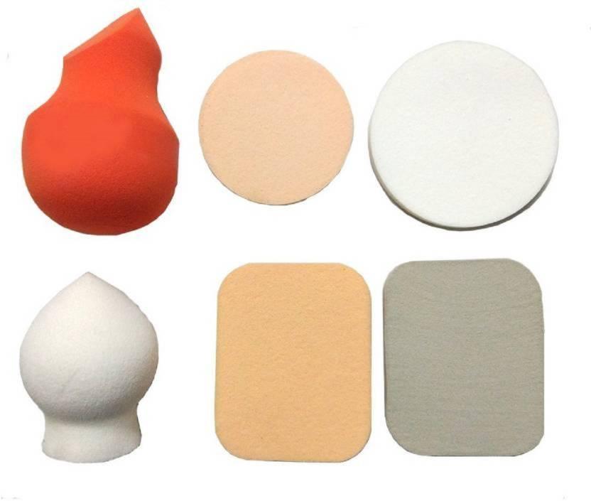 nerr Makeup Blending Powder Puff Sponge, Multi Color