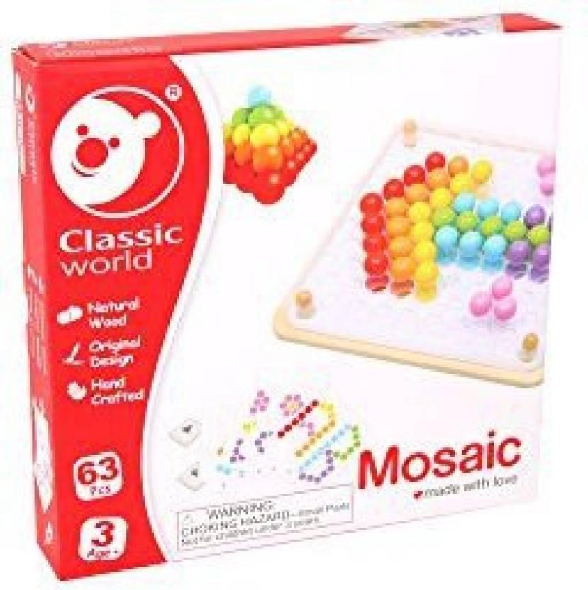 Classic World Mosaic Puzzle (63 Pieces) - Mosaic Puzzle (63
