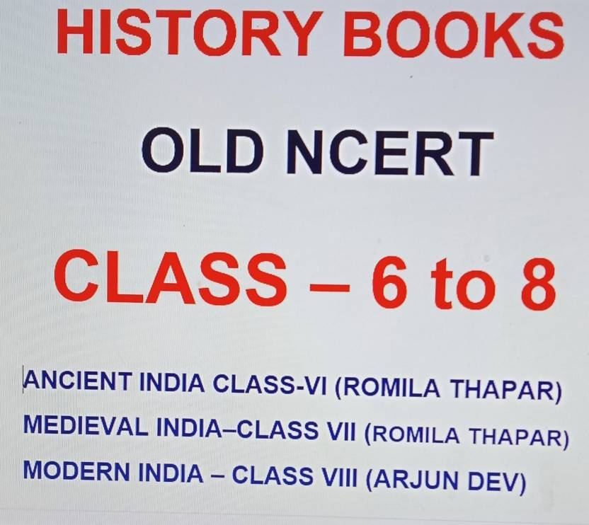 History Books - Old Ncert (Class-6 To 8): Buy History Books