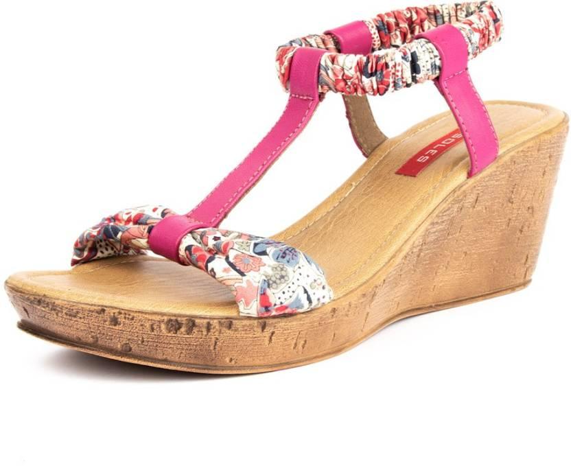 c0a271837cf7 Soles Women Pink Wedges - Buy Soles Women Pink Wedges Online at Best Price  - Shop Online for Footwears in India