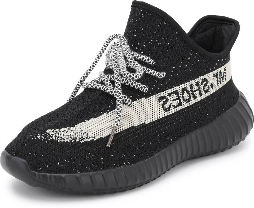 602e78dc74263 Mr.SHOES 1838-1-YZY BOOST 350 V2 BLACK RICE WHITE Walking Shoes For Men  (Black)