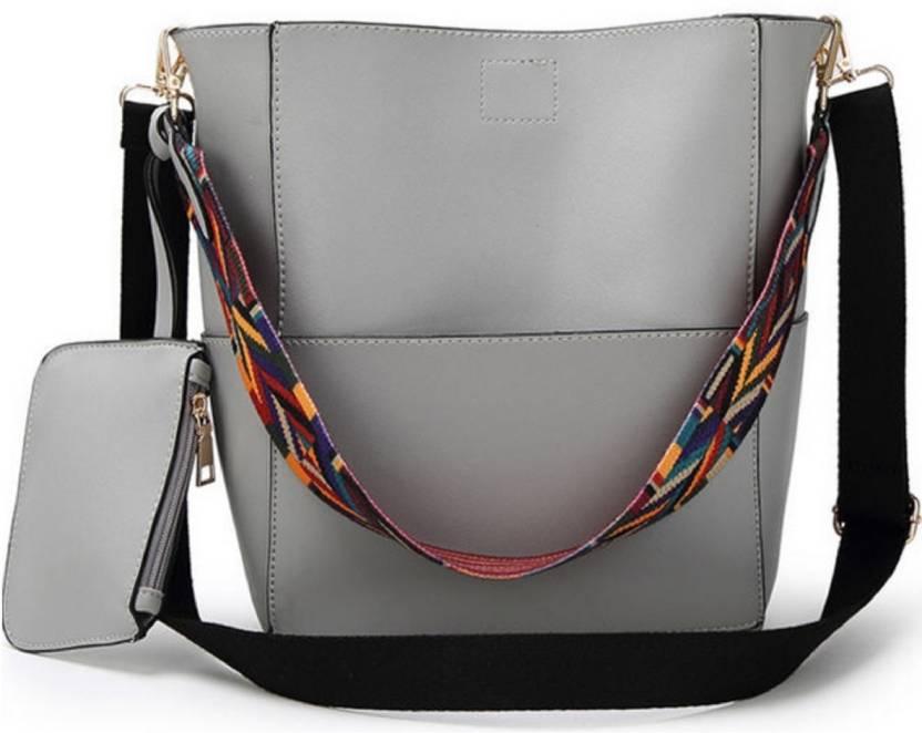 a1b69bb925fb Buy LACIRA Shoulder Bag Grey Online   Best Price in India