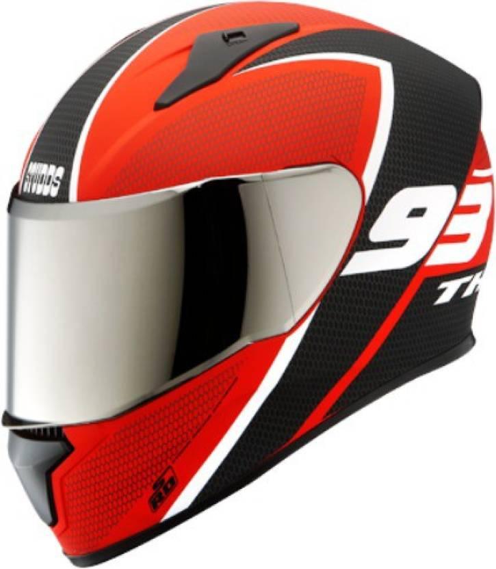 ea31d7072b Studds Thunder D3 Matt Red N6 White L Motorsports Helmet (D3 Matt Red N6  White)