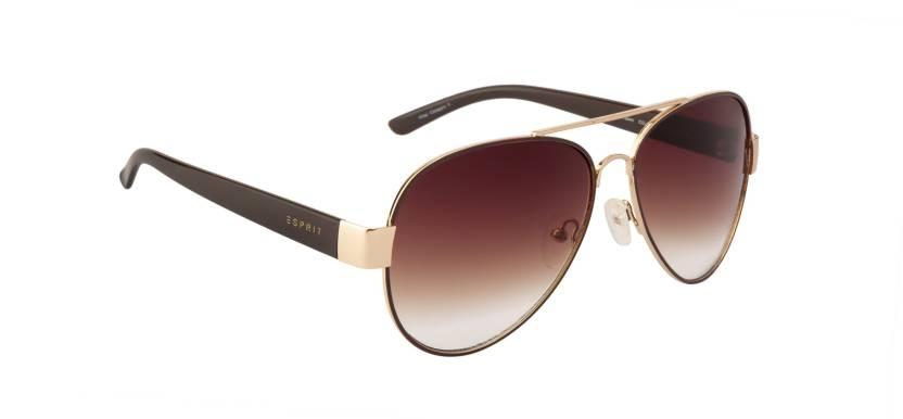 744b213e79 Buy Esprit Aviator Sunglasses Brown For Men   Women Online   Best ...