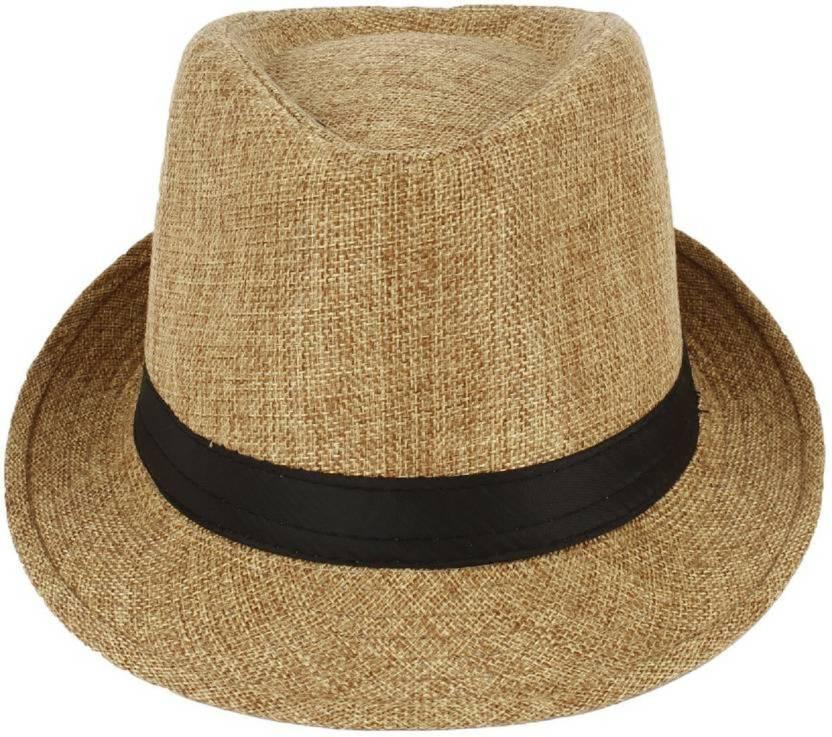 FASTTECH Stylish Golden Fedora Hat Cap - Buy FASTTECH