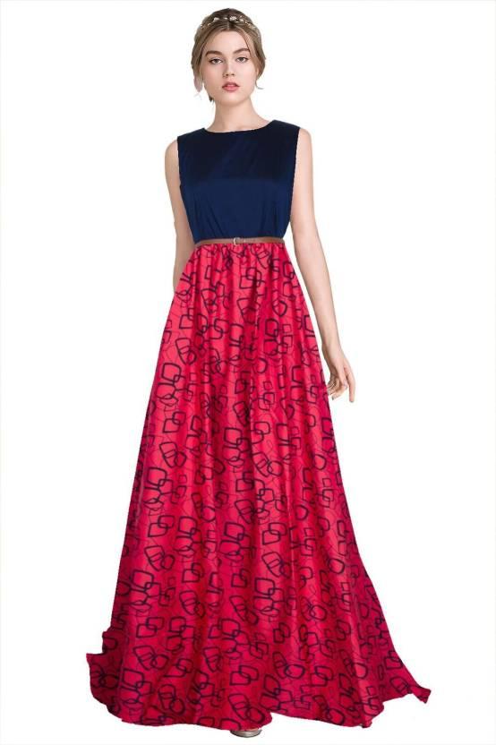 0bd86a8d43 Feldspar Women's Gown Pink Dress - Buy Feldspar Women's Gown Pink ...