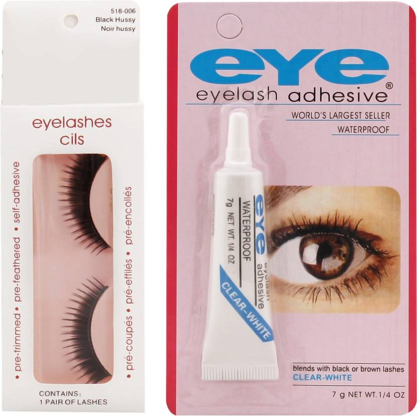599649a6676 Ear Lobe & Accessories False Eye Lashes No-6 With Eey Glue (Pack of 1)