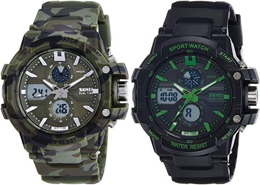 buy popular 347d9 04463 Skmei 990 Camouflage+990 Green Watch - For Men - Buy Skmei ...